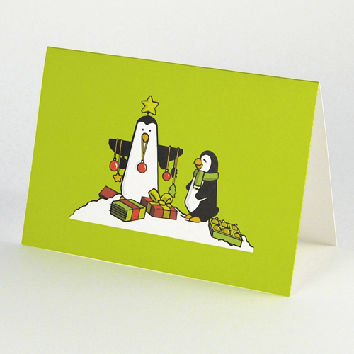 funny Christmas Cards: Penguins