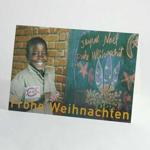 Joeuyeux Noël, charity christmas cards for burundikids, African School