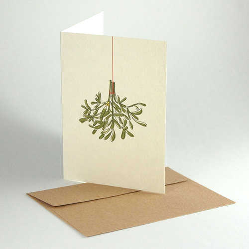 Eco Friendly Christmas Cards: Mistletoe