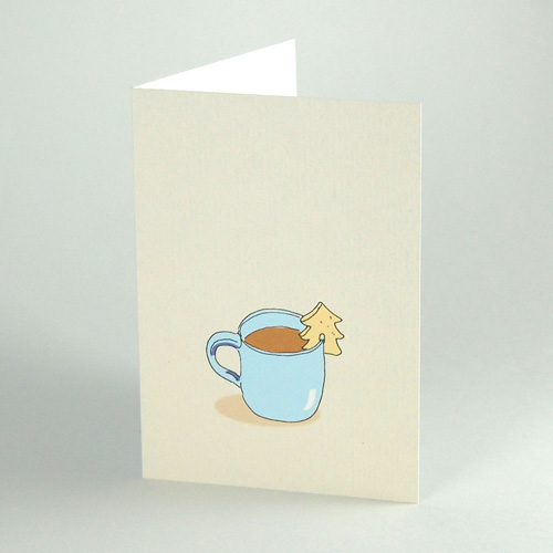 Christmas Cards: a nice cup of hot chocolate