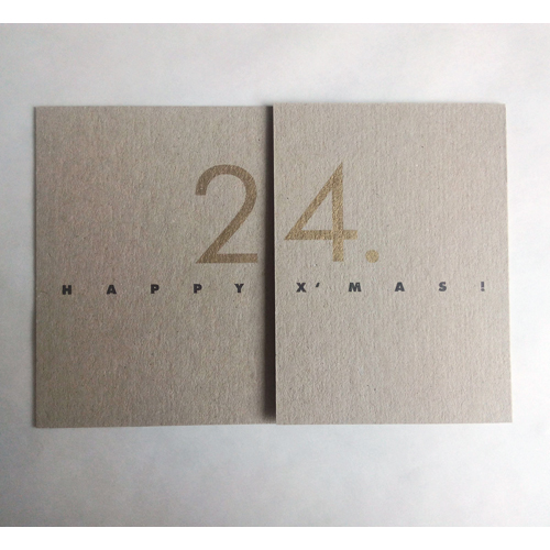 season´s greetings: 24/2021, great design printed on recycled cardboard