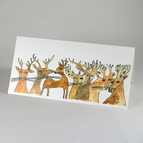 Christmas Cards: Rudolph and his family