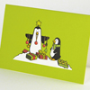 funny Christmas Cards with penguins