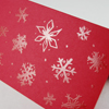 Snow Flakes - christmas cards in red