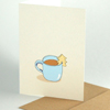 cozy christmas cards: a nice cup of hot chocolate