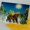 Christmas Cards: winged bear in the wood